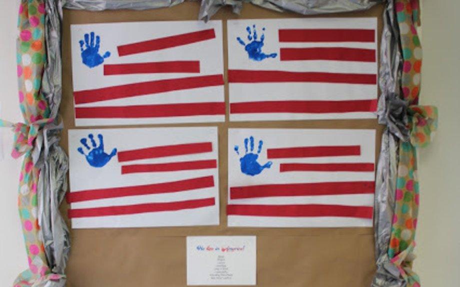 American Flag Handprint