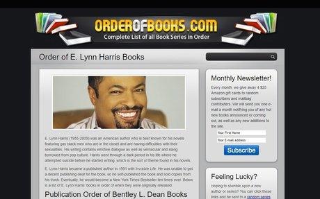 Order of E. Lynn Harris Books - OrderOfBooks.com