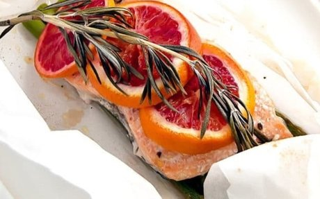 Blood Orange Rosemary Salmon