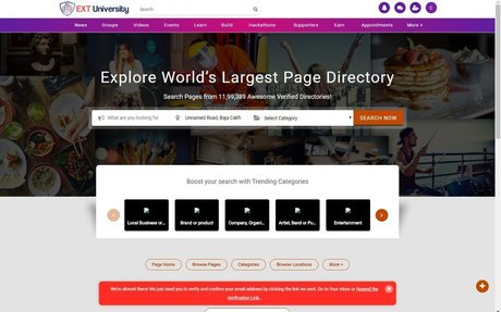 EXT University - Student Vendor Directory