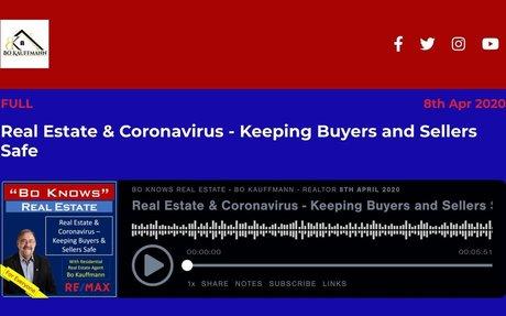 Real Estate & Coronavirus - Keeping Buyers and Sellers Safe
