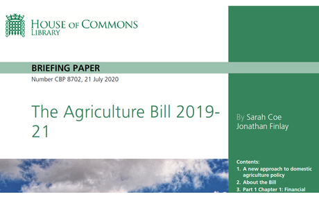 House of Commons Briefing Paper on UK Agriculture Bill 2019-21