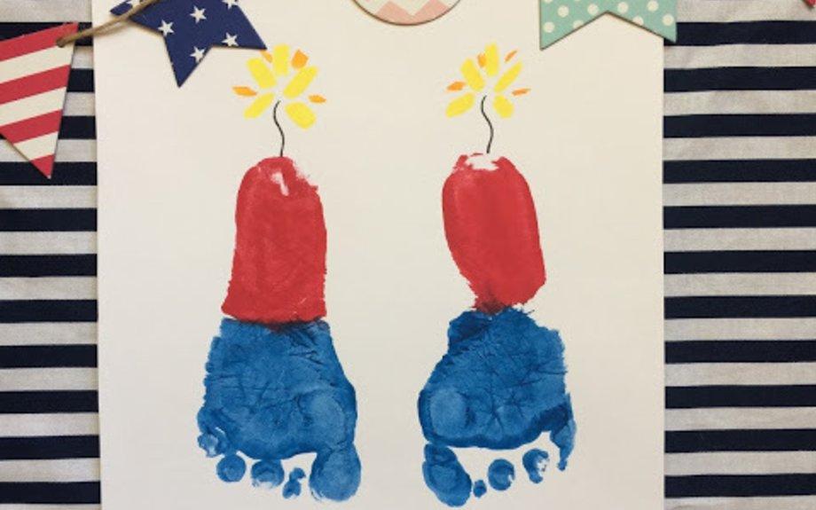 4th Of July Footprint Fireworks