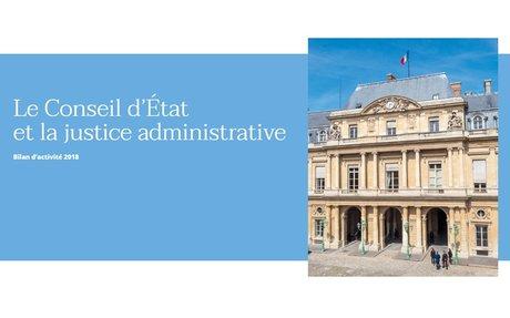 Bilan d'activité 2018 - Le Conseil d'État et la justice administrative