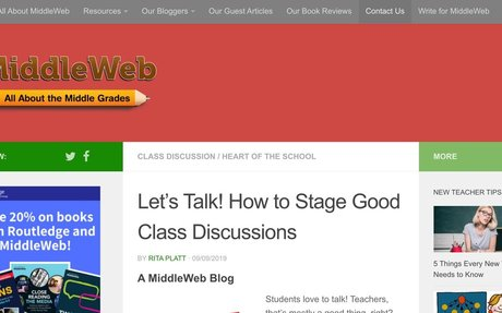 Let's Talk About It! How to Stage Good Class Discussions