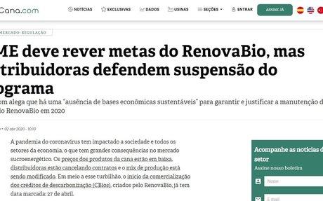 MME should review RenovaBio's goals, but distributors defend suspension of the program