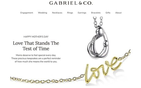 A selection of fine jewelry for Mother's Day from Gabriel & Co!