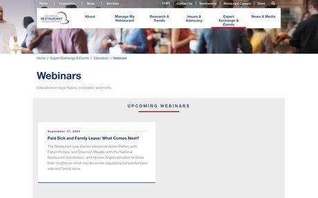 National Restaurant Association Webinars
