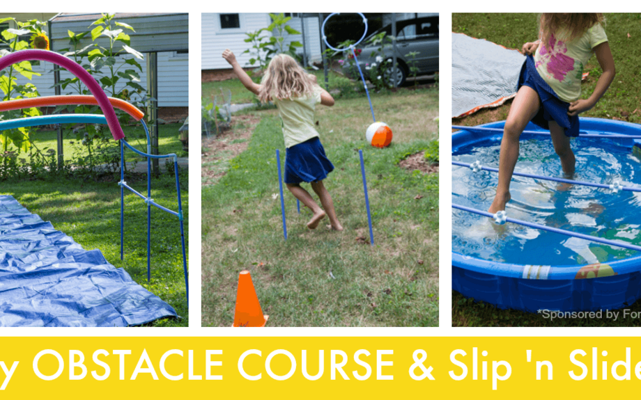 Make Your Own Obstacle Course for Kids (and DIY Slip N Slide)
