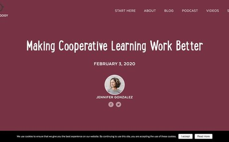 Making Cooperative Learning Work Better | Cult of Pedagogy