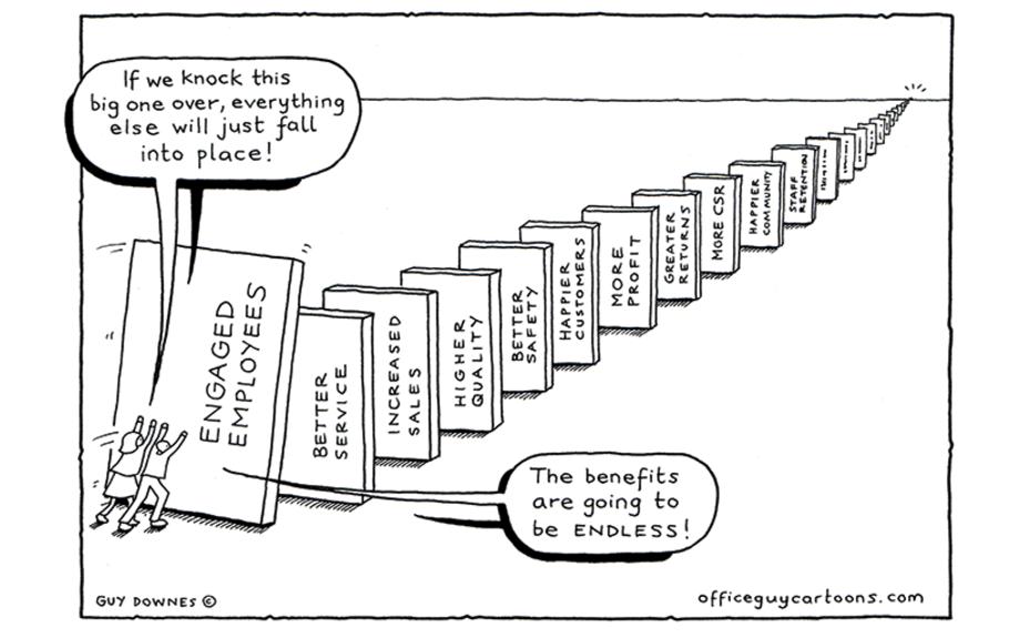 Domino Effect - Office Guy Cartoons