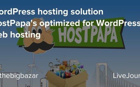 WordPress hosting solution HostPapa's optimized for WordPress web hosting