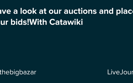 Have a look at our auctions and place your bids!With Catawiki