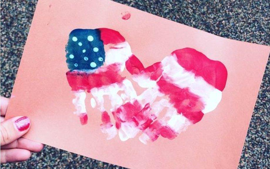 I Heart USA Handprints