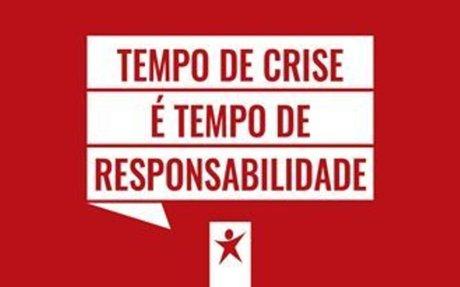 Tempo de crise é tempo de responsabilidade