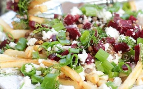 Healthy Loaded Mediterranean Fries