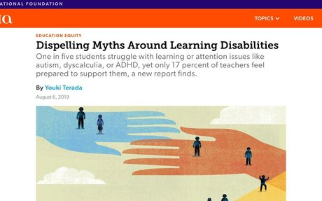 Dispelling Myths Around Learning Disabilities