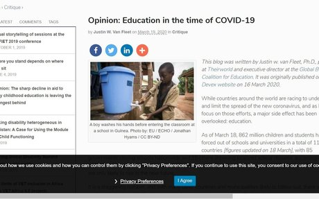 Opinion: Education in the time of COVID-19 | The Education and Development Forum