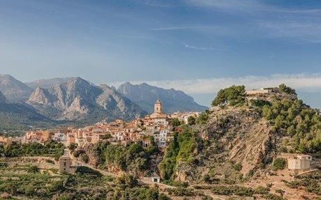 Polop - Utsikt over Albir, Altea, Callosa, Sierra Bernia