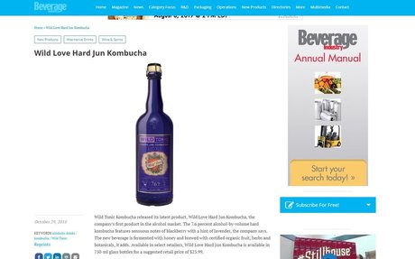 Wild Love Hard Jun Kombucha