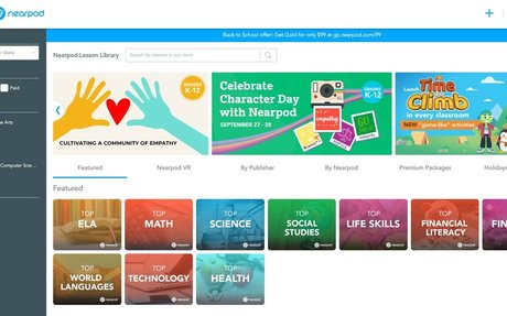 Nearpod - Engage Students; Library full of lesson material