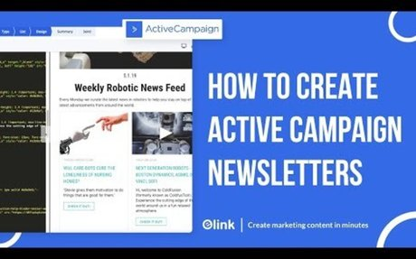 How to Create an Active Campaign Email Newsletter in Minutes