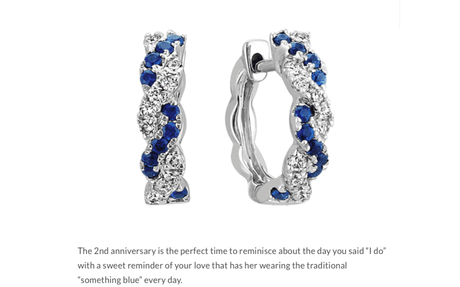 Something blue from Shane Co. - Best 2nd Anniversary Gift Ideas Of All Time