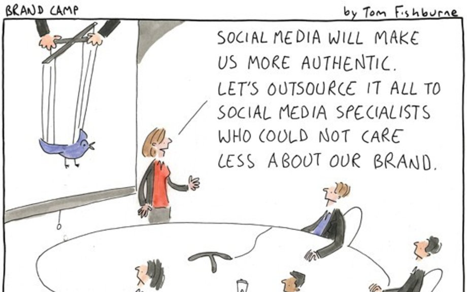 outsourcing social media | Marketoonist | Tom Fishburne