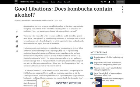 Good Libations: Does kombucha contain alcohol?