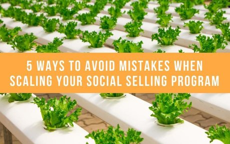 5 Ways To Avoid Mistakes When Scaling Your Social Selling Program #SocialSelling