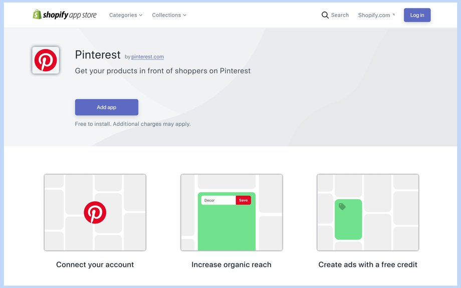 Pinterest launches an app on Shopify