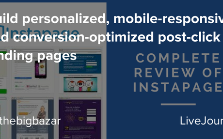 Build personalized, mobile-responsive, and conversion-optimized post-click landing pages