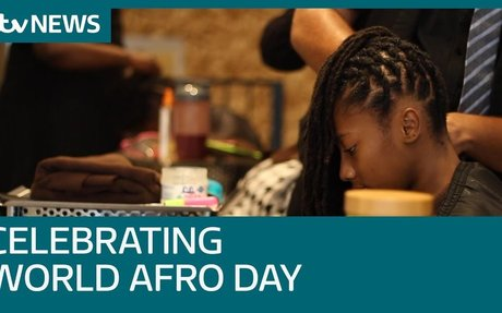 Calls to ban hair discrimination on World Afro Day | ITV News