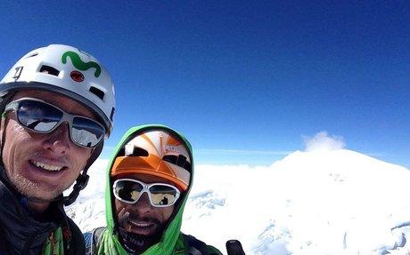 Se les dio: Egloff y Miranda completaron la pared Sur de Aconcagua –