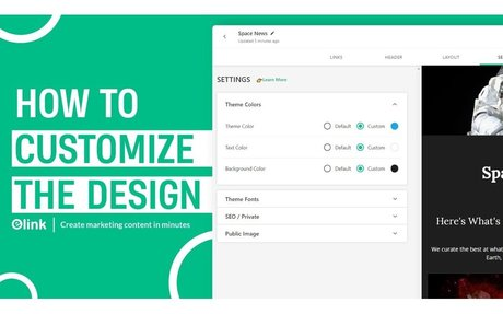 How to Customize the Design of Your elink