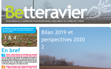 Bilan 2019 et perspectives 2020 (EU Sugar Balance Sheet and Perspectives)