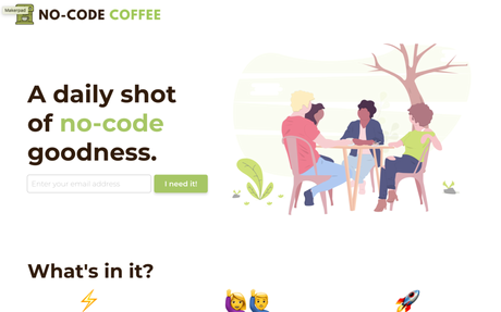 No-Code Coffee | Inspiration for NoCoders