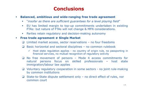 Internal EU27 preparatory discussions on an EU/UK Free Trade Agreement