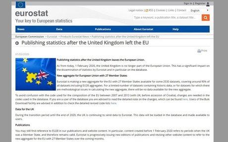 Publishing statistics after the United Kingdom left the EU