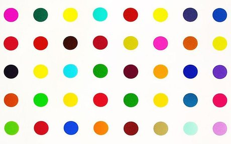 A $30K Damien Hirst was cut up -- and the pieces are selling for seven times as much