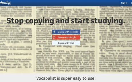 Automatically fill out vocabulary sheets | Vocabulist