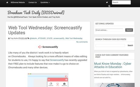 Web Tool Wednesday:  Screencastify Updates