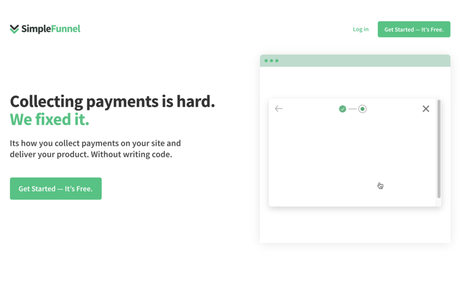 SimpleFunnel.io Collect payments on your site and deliver your product.