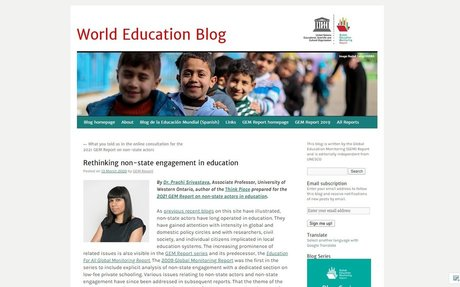 Rethinking non-state engagement in education,  13 March 2020by GEM Report