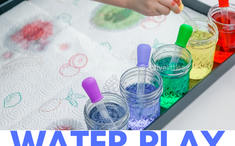 Water Play for Kids using Droppers