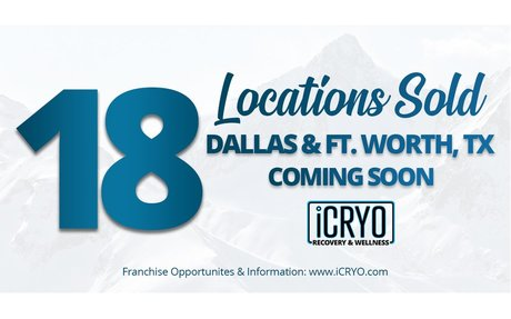 iCRYO To Open 18 Dallas-Fort Worth Locations Under Four Man Area Development Team