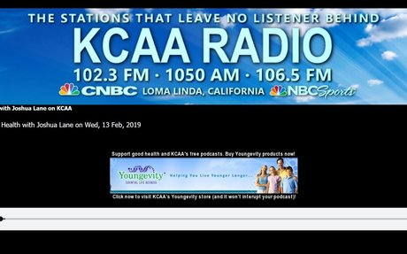 Here's to Your Health with Joshua Lane on KCAA