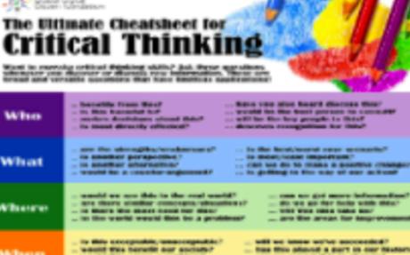 Critical Thinking Cheat Sheet for Teachers