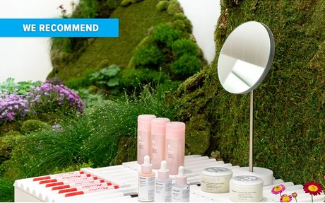 BRAND HIGHLIGHTS // Glossier Pop-Up Shop Features Rolling Hills Covered In Moss