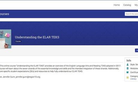 Understanding the ELAR TEKS -